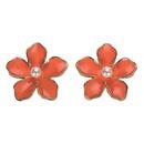 Simple dream flower beads flower alloy earrings NHJQ130692