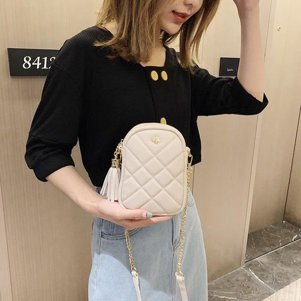 Wild chain shoulder bag rhombic small square bag NHTC135493
