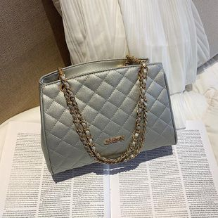 Wild solid color simple texture chain rhombic niche handbag NHTC135557's discount tags