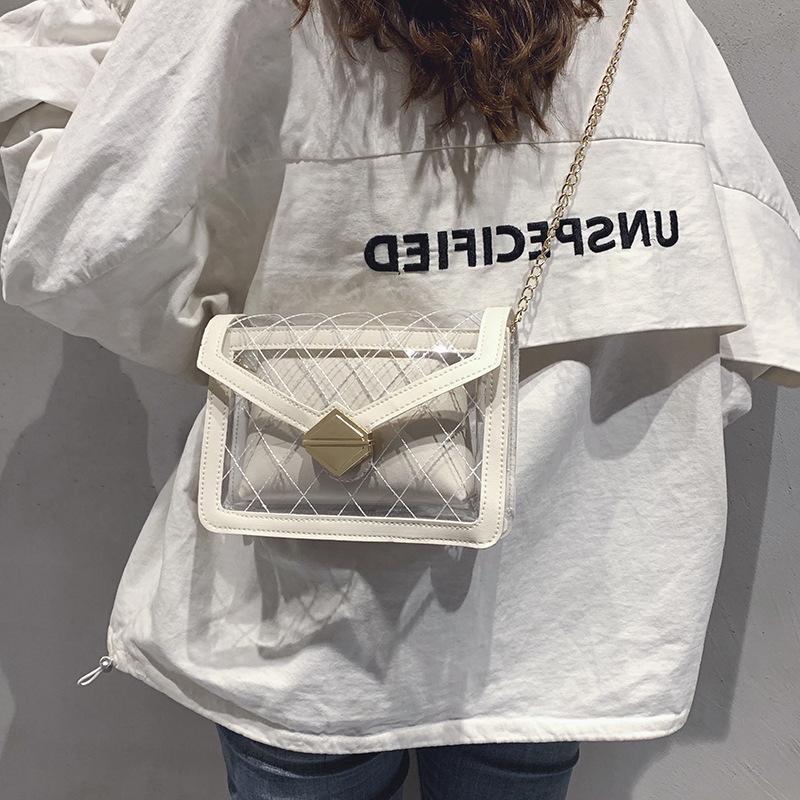 Korean version of the chain shoulder fashion crossbody wild small square bag NHXC135553