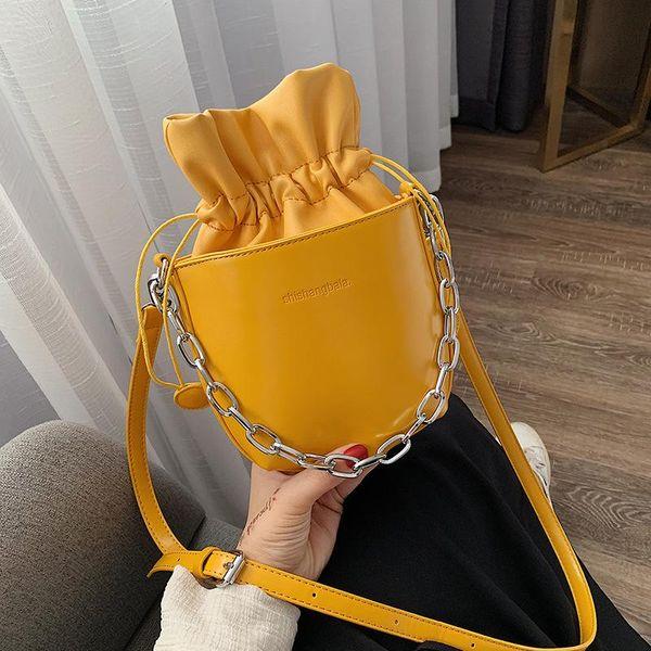 Fashion solid color bucket handbag shoulder bag Messenger bag multicolor NHLD135772