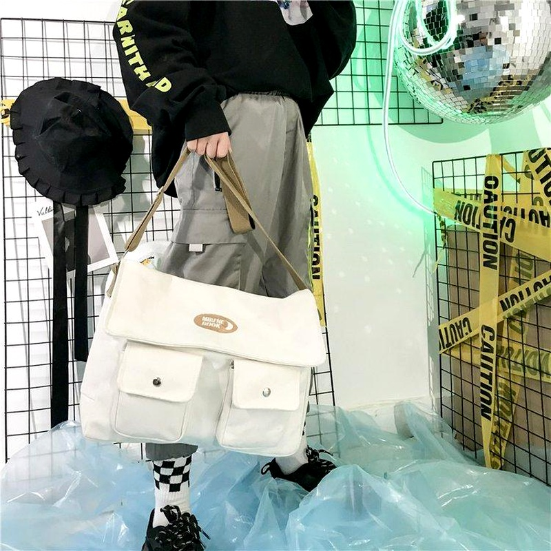 Fashion canvas large shoulder bag handbag backpack multicolor NHHX135776