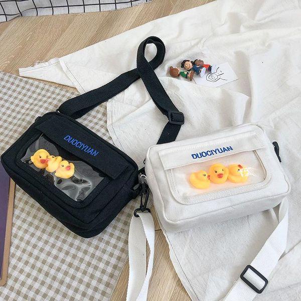 Fashionable bright duck nylon shoulder bag waist bag multicolor NHHX135821
