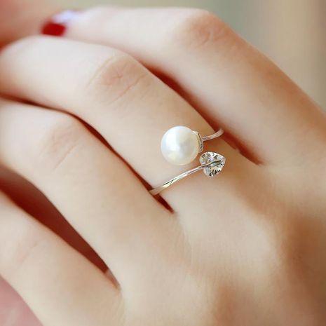 Bague réglable zircon amour perles NHMS135853's discount tags