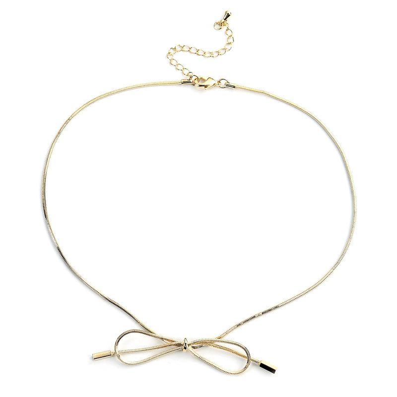 Simple and stylish bow choker NHLL135909