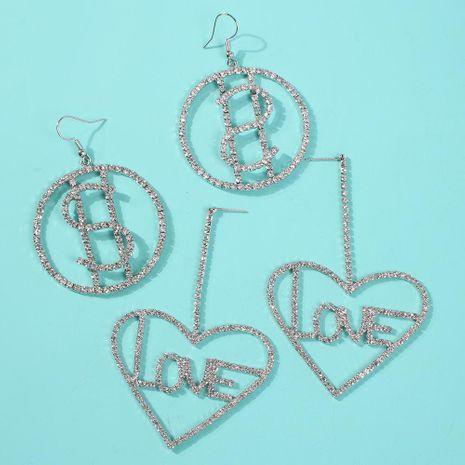 Womens Geometric Plating Alloy Imitation Rhinestone Earrings NHMD135982's discount tags