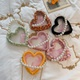 Fashion heart-shaped transparent handbag shoulder bag Messenger bag multicolor NHHX135773