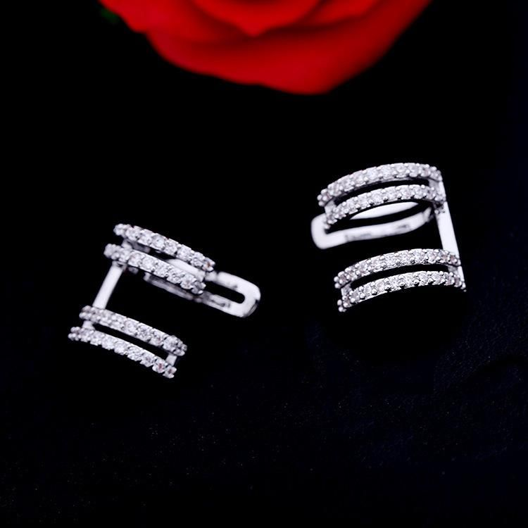 Fashion women paired rhinestones ear cuff clip earrings alloy NHDO136092