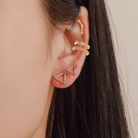Fashion women alloy rhinestone ear cuff clip earrings alloyen 5 sets NHDP136099's discount tags