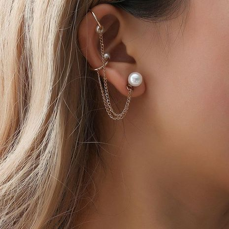 Fashion women beads chain ear cuff clip earrings alloy alloyen NHDP136124's discount tags
