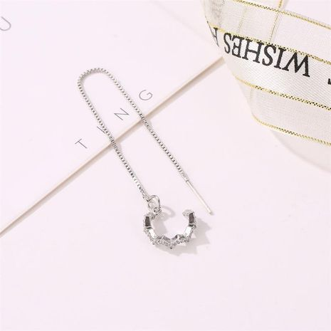 Fashion women rhinestone cuff clip earrings alloy alloyen NHDP136125's discount tags