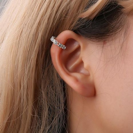 Fashion women  rhinestone cuff clip earrings alloy alloyen NHDP136136's discount tags