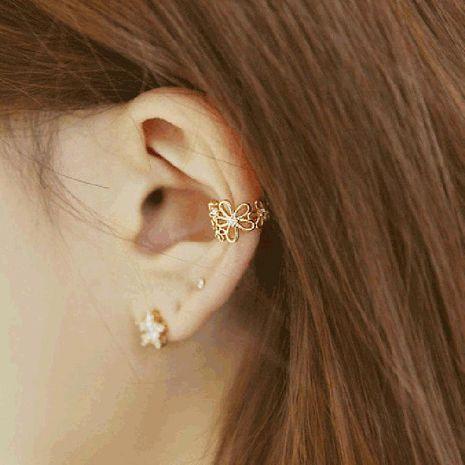 Fashion women flowers with rhinestones single ear cuff clip earrings alloy alloyen NHDP136137's discount tags