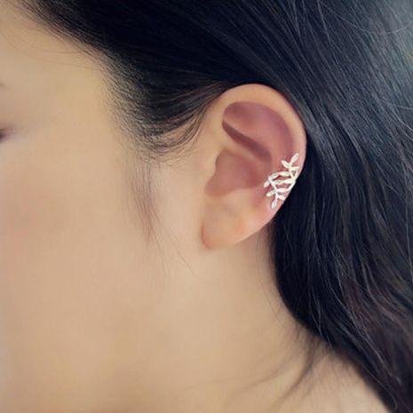 Fashion women metal leaves single ear cuff clip earrings alloy alloyen NHDP136138's discount tags