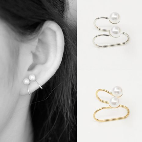 Fashion women beads U-shaped single ear cuff clip earrings alloy alloyen NHDP136146's discount tags