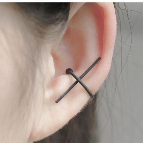 Fashion women C cross single ear cuff clip earrings alloy alloyen NHDP136149's discount tags