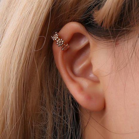 Fashion women daisy U-shaped single ear cuff clip earrings alloy alloyen NHDP136143's discount tags