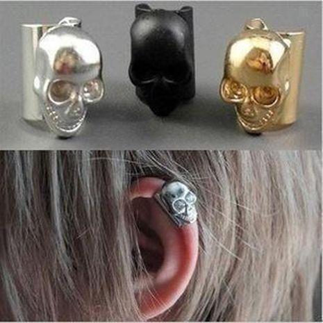 Fashion women hollow skull ear cuff clip earrings alloy alloy NHDP136157's discount tags