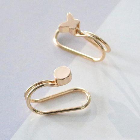 Fashion women butterfly rhinestone clip earrings ear cuff alloy alloy NHDP136166's discount tags