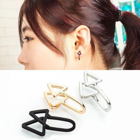 Fashion women double triangle ear cuff clip earrings alloy alloyen NHDP136167's discount tags