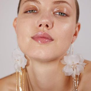 Acrylic tassels with flower-shaped earrings NHJQ136305's discount tags
