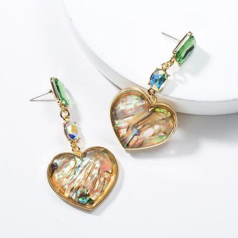 Acrylic Rhinestone Resin Love Heart Earrings NHJE136312's discount tags