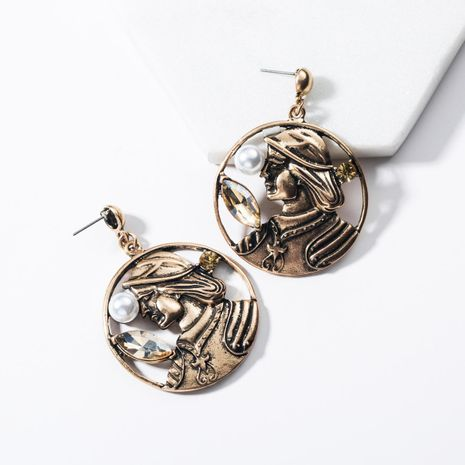 Character statue old wind alloy earrings NHJE136319's discount tags