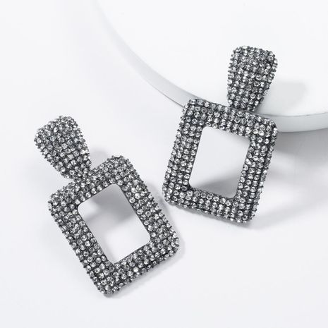 Fashion inlaid rhinestone full of rhinestone alloy earrings NHJE136332's discount tags