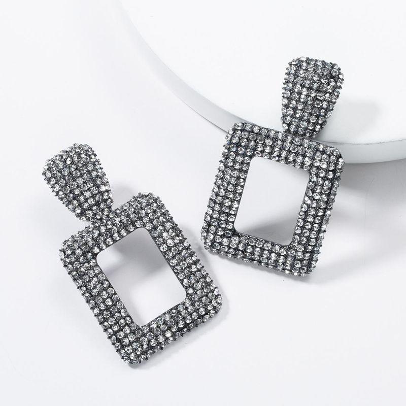 Fashion inlaid rhinestone full of rhinestone alloy earrings NHJE136332