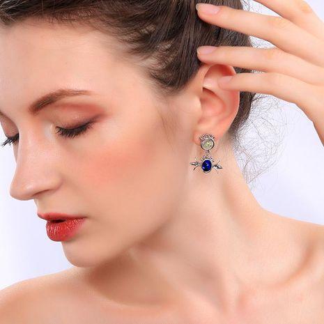 Womens Geometric Rhinestone Alloy Earrings NHQD136340's discount tags