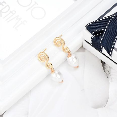 Korean version of the beads pendant zinc alloy earrings NHXS136347's discount tags
