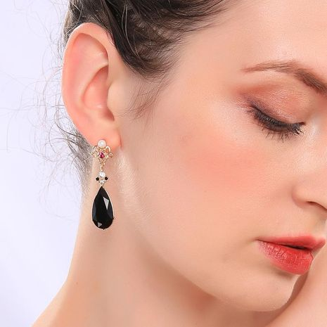 Womens Geometric Rhinestone Alloy Earrings NHQD136351's discount tags
