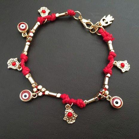 Fatima's Hand Palm Eye Braided Bracelet NHHN136366's discount tags