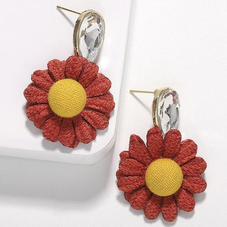 Fashion temperament chrysanthemum drop rhinestone earrings NHJQ136372's discount tags