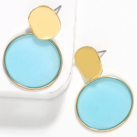 Dream color acetic acid plate circle contrast color earrings NHJQ136377's discount tags
