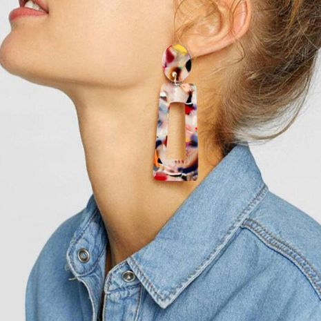 Creative personality simple acetate earrings NHCT136391's discount tags