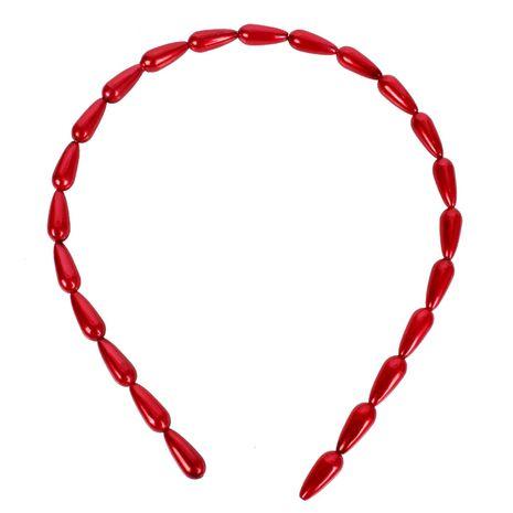 Fashion style drop-shaped imitation beads headband NHCT136393's discount tags