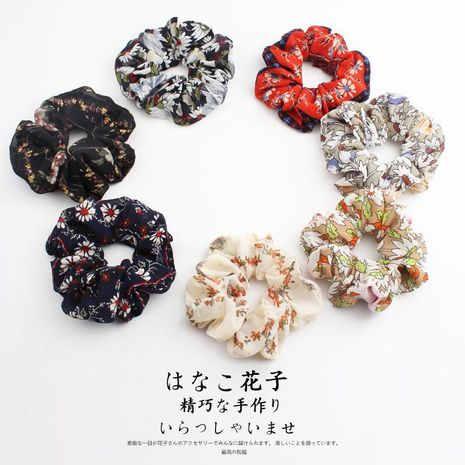 Breathable thin material floral fabric hair ring NHOF136406's discount tags