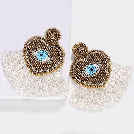 Mizhu palm eyes love tassel earrings NHJQ136411's discount tags