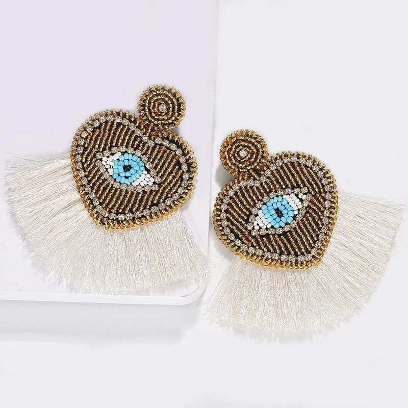 Mizhu palm eyes love tassel earrings NHJQ136411