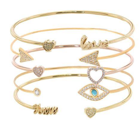 Womens geometric rhinestone alloy Bracelets & Bangles NHHN136421's discount tags