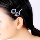 Vintage rhinestone mermaid princess tears hair accessories NHQD136221