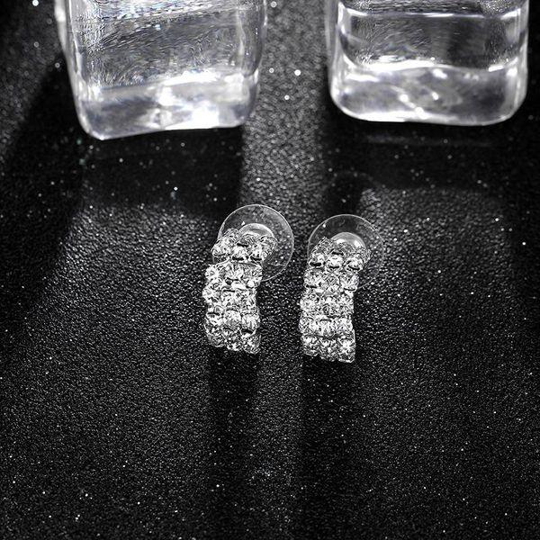 Womens geometric micro-set imitated crystal Earrings NHIM136880