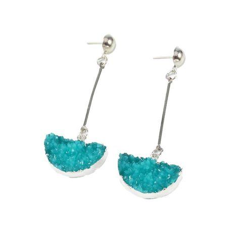 Boucles d'oreilles demi-cercle coréen en alliage de résine longue NHGO136917's discount tags