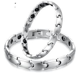 Couple-style geometrically plated titanium steel Bracelets & Bangles NHOP136967