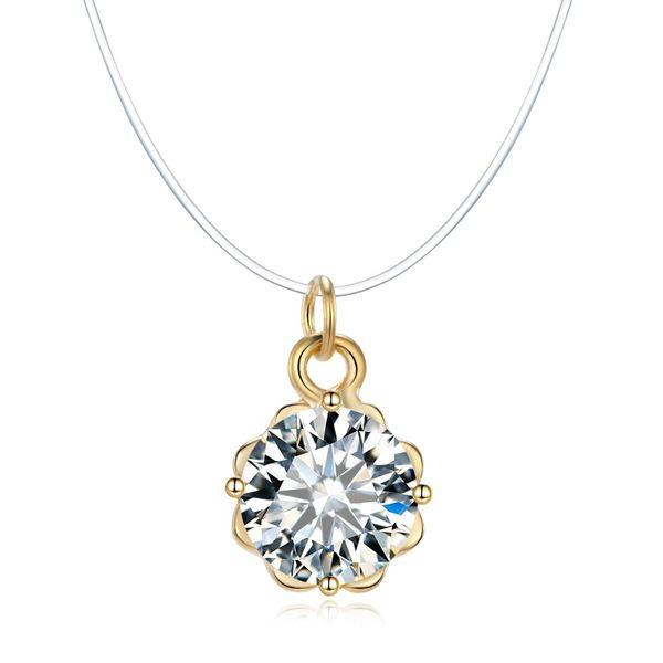 Fashion lover tear zircon necklace NHGO136982