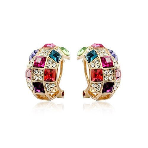 Fashionable Luxury Imitated crystal Queen Earrings NHLJ136989