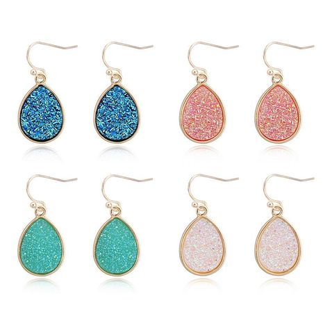 Fashion vintage colored oval earrings NHGO136993's discount tags