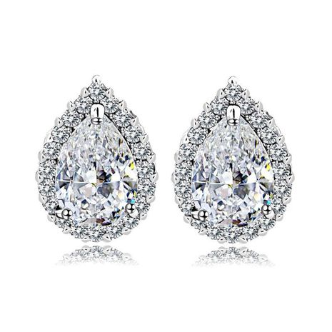 Delicate and simple AAA zircon drop earrings NHTM136992's discount tags