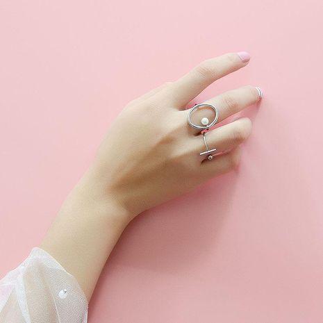 Womens Geometric Plating Titanium Steel Rings NHOK136996's discount tags